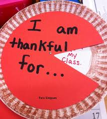 thanksgiving pumpkin pie craft writing what we are thankful for