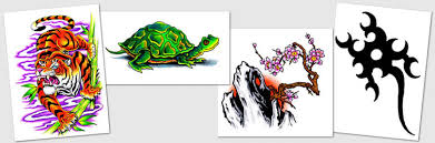 designs symbols tribal tigers tree turtles tattoos