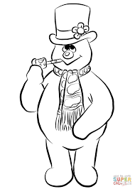frosty the snowman coloring page free printable coloring pages