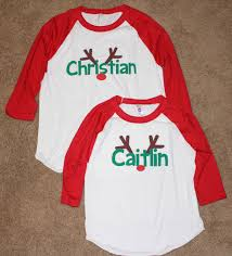 christmas shirts the story of three personalized kids christmas shirts from my