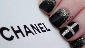 chic chanel inspired nails arcadianailart youtube