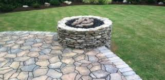 The Patio Flame Around The Fire U0027s Glow On The Patio Mckamey Landscapes Llc