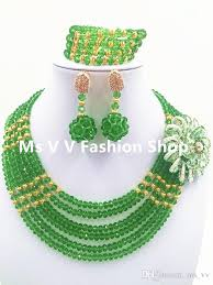 silver jewellery necklace sets images 2018 silver jewelry set green gold 2017 new model match aso ebi jpg
