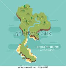 thailand vector map thailand vector map stock vector 537668893
