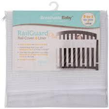 breathablebaby railguard plus white rail cover liner walmart com