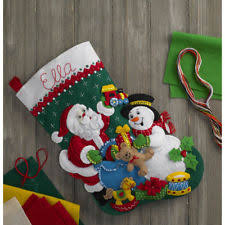bucilla 18 inch felt applique kit 86658 santa