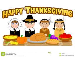 Thanksgiving Feast Clip Dinner Pilgrims Clipart