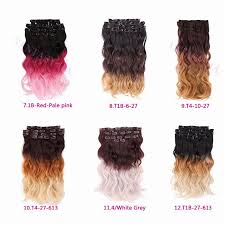 Online Clip In Hair Extensions by Pink Ombre Body Wave Hair Weave Synthetic Clip In Hair