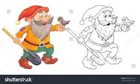 snow white seven dwarfs fairy tale stock illustration 552158518