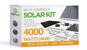 4kw solar panel installation kit 4000 watt solar pv system for