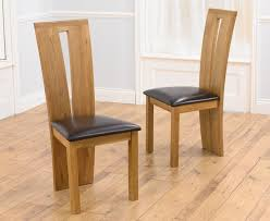 Light Oak Dining Chairs Montreal Solid Oak Black Dining Chairs Pair The Great Intended For