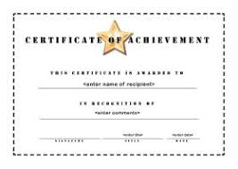 Template For A Certificate Of Achievement printable certificates of achievement