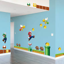 classical game super mario wall stickers for kids room home decor