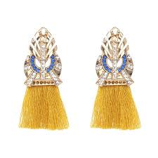 gold earrings for 2018 vintage gold earring designs without slong tassel