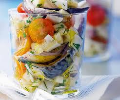 cuisiner maquereau frais entrée gourmande salade de maquereau mariné pomme et céleri