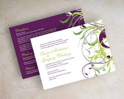 green wedding invitations awe inspiring purple and green wedding invitations you can modify