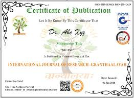 how to publish paper article international journal of research