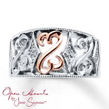 kay jewelers account open heart collection rings kay open hearts ring diamond