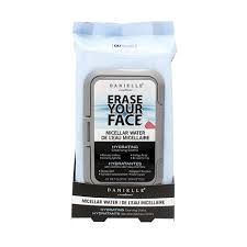 danielle erase your face make up remover wipes 60 pack
