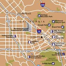 map of burbank ca bob airport airport maps maps and directions to burbank bur