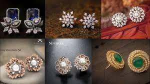 daily wear diamond earrings new gold stud earring design ideas for diwali beautiful