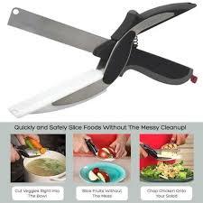 cutter de cuisine clever cutter 2 en 1 couteau de cuisine planche à découper ciseaux