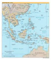 Us Relief Map Large Political Map Of Southeast Asia With Relief Capitals And
