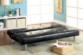 sofa into bed furniture of america cm2672 eddi contemporary black leatherette