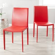 Red Dining Chair Red Leather Dining Room U0026 Kitchen Chairs Shop The Best Deals