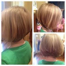 kids angle haircut a fun graduation bob for finer hair great for little girls that