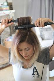 how to make flicks with a hair straightener 17 useful tricks for anyone who uses a hair straightener cowlick