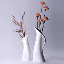 White Decorative Vase Minimalist Tall Abstract Peacock Vases Floor Vase Large Vase