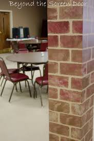 Light Brown Paint by Interior Picture Of Dark Brown Painting Faux Bricks For Home