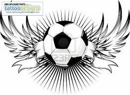 winged football design
