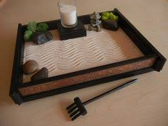 zen garden set buddha on wooden tray with gong 2 candleholders