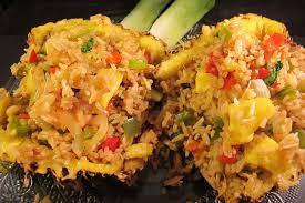 recette riz cuisiné riz sauté à l ananas et aux légumes le de cuisine en bouche