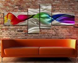 huge metal modern abstract wall art painting sculpture