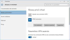 raccourci connexion bureau à distance se connecter à un vpn sous windows 10 en un clic raccourci bureau