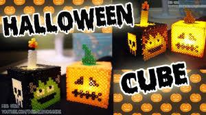 perler hama bead halloween cube tutorial how to youtube