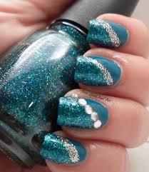 free spirit nail art blue bling