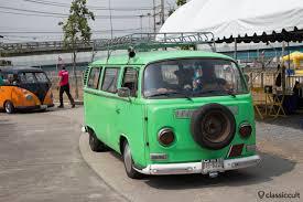 green volkswagen van siam vw festival 2014 bangkok thailand classiccult