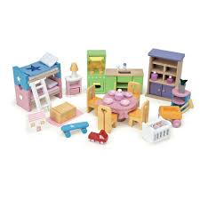 Dolls House Furniture Sets Le Toy Van My First Dream House Doll House With Furniture Cuckooland