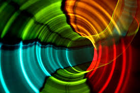 colorful abstract sound wave art