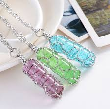 aliexpress crystal necklace images Pretty cylindrical luminous necklace glow in the dark crystal jpg