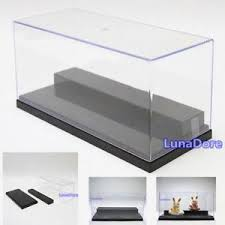 clear acrylic l base acrylic display case ebay