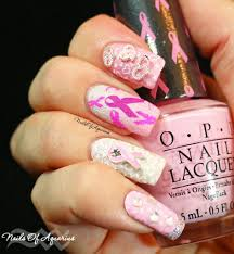 breast cancer awareness design with texture for naillinkup