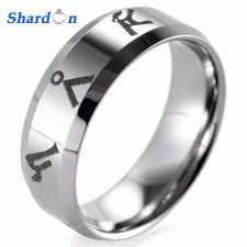 stargate wedding ring shardon 8mm bevel tungsten carbide comfort fit lasered stargate