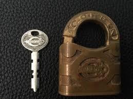 corbin cabinet lock co antique vintage corbin cabinet lock co brass padlock w working key