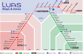 Red Line Map Luas Routes