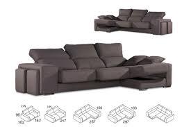 canapé avec pouf canapés angle chaise longue méridiènne 2 poufs assises coulissantes